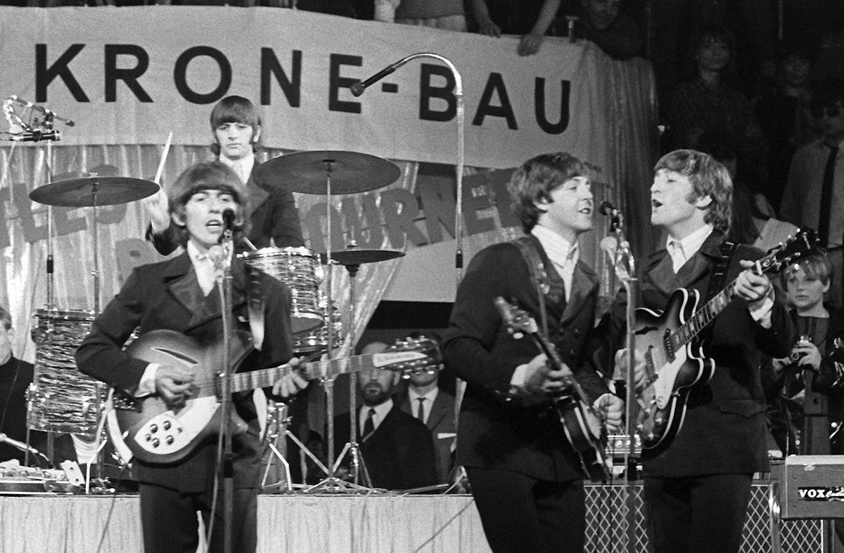Die Beatles 1966 in München.