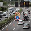 3.8.Autobahn A1 / Stau / Baustelle Foto:Guy Jallay