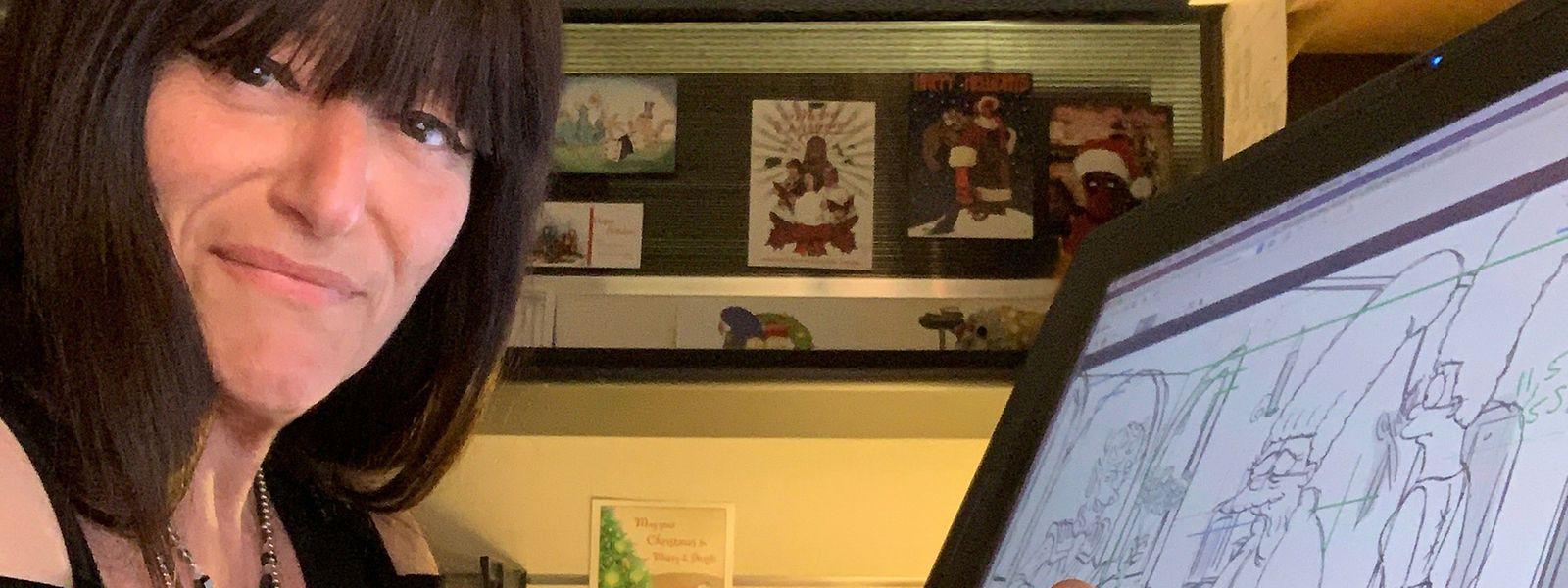 Die Animatorin Tanja Majerus bei der Arbeit zur diesjährigen Halloween-Folge der Simpsons.