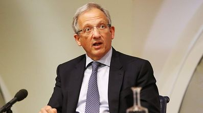 Deputy Governor of the Bank of England Jon Cunliffe speaks during the Bank of England's financial stability report at the Bank of England in central London on June 27