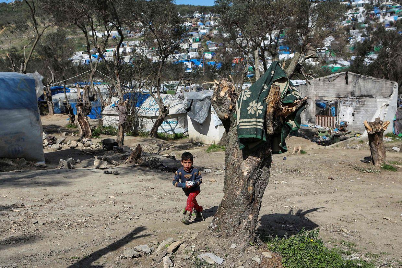 Brand im Flüchtlingslager von Moria auf Lesbos.