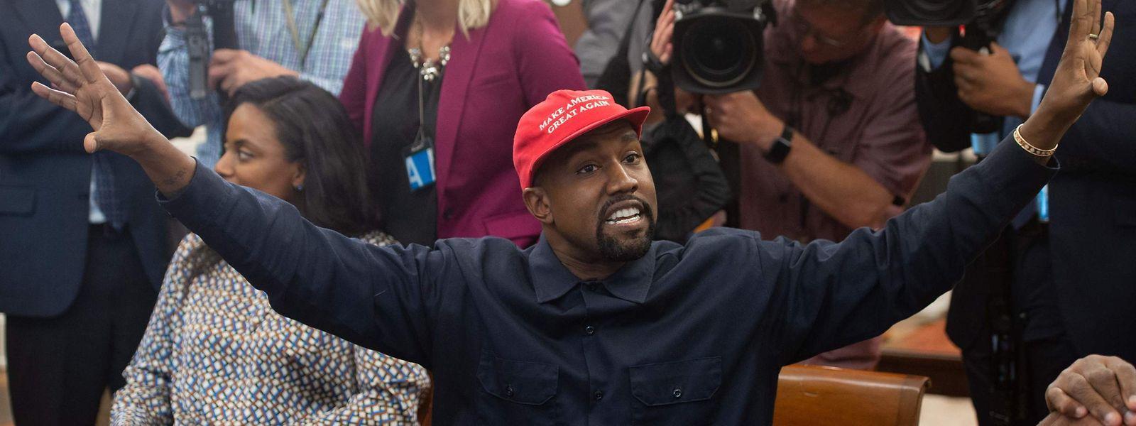 Ein Archivfoto aus dem Jahr 2018, als der Rapper den US-Präsidenten Donald Trump im Weißen Haus traf.