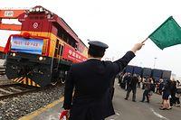 Besichtigung der Qingbaijiang Railway Freight Station, Chengdu,Güterbahnhof Verbindung Bettembourg-Chengdu,China.