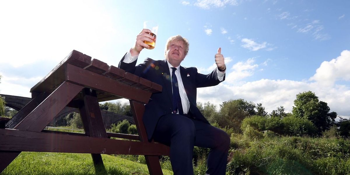 """Er sprang spät auf den """"Vote Leave""""-Zug auf und wird nun als möglicher Premierminister gehandelt: Londons Ex-Bürgermeister Boris Johnson."""