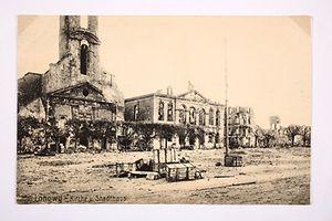 die bombardierte Stadt Longwy.