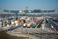 Terminal multimodal des CFL à Bettembourg/Dudelange - Photo : Pierre Matgé