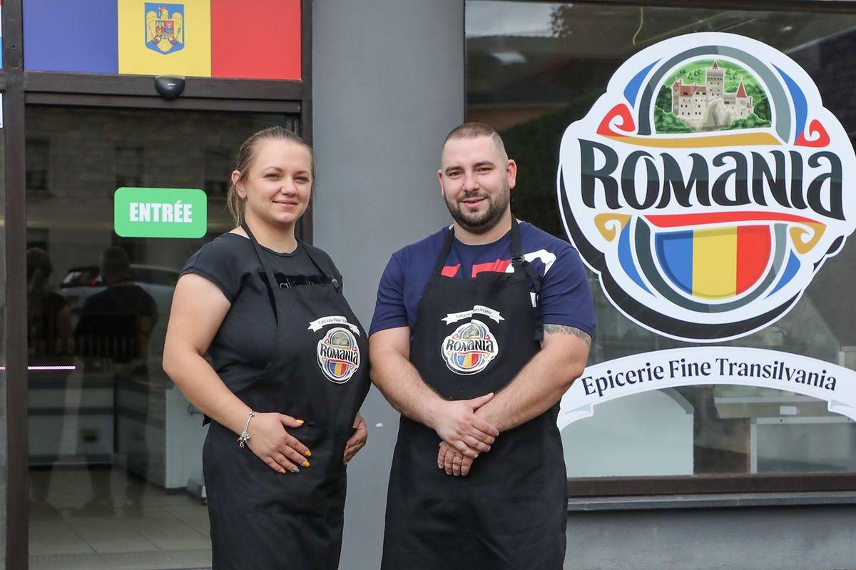 Bogdan and Roxana Sandu serving Romanian and Russian specialities since August 2020 Photo: Luc Deflorenne