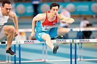 Francois Grailet (60m Huerden) / Leichtathletik, CMCM Indoor Meeting 2021 / 13.02.2021 / Luxemburg / Foto: Christian Kemp