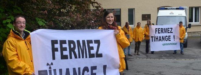Bereits vor zwei Jahren demonstrierten Greenpeace-Umweltaktivisten für die Schliessung des AKW Tihange.