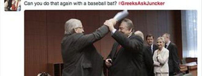 Juncker e Evangelos Venizelos numa reunião do Eurogrupo. Venizelos é agora ministro dos Negócios Estrangeiros em Atenas