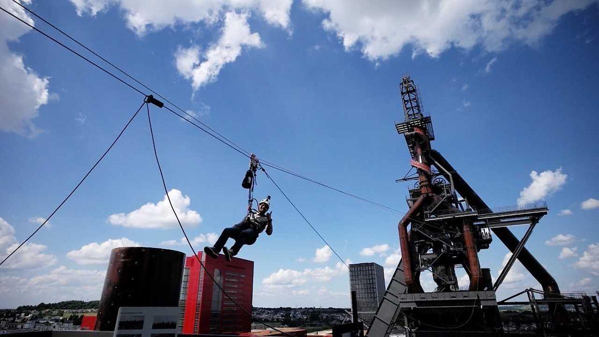 Pour la première fois, les visiteurs pourront monter au sommet du haut fourneau B pour côtoyer les nuages.