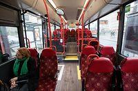 As duas primeiras filas dos autocarros deixam de poder ser utilizadas a partir desta sexta-feira.