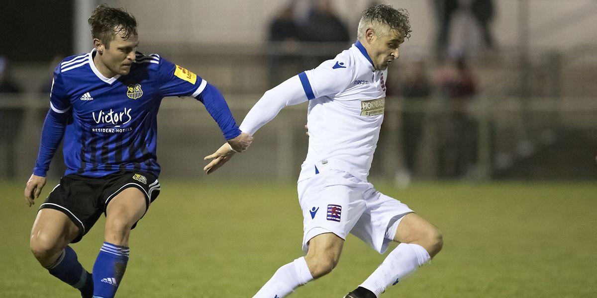 Mario Mutsch s'est beaucoup démené. Sans succès, le Luxembourg s'est incliné 0-1.