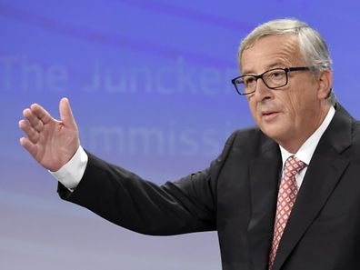 European Commission President-elect Jean-Claude Juncker unveils the list of the new European Commissioners during a press conference in Brussels, on September 10, 2014.