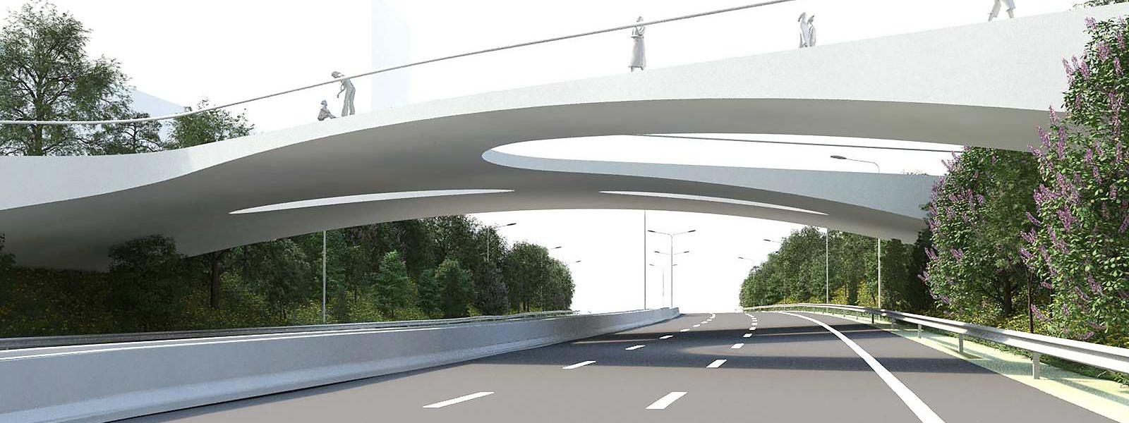 Der Bau der Brücke, die Tram, Busse, Radfahrer und Fußgänger vom Howald zum Ban de Gasperich führt, wird mit 7 Millionen Euro zu Buche schlagen.