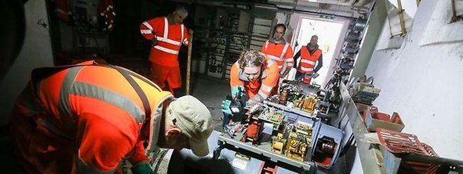 C'est là dans le sous-sol du bâtiment abritant les postes directeurs des secteurs frêt et triage à Bettembourg que les eaux de pluie ont fait court-circuiter les installations électriques.