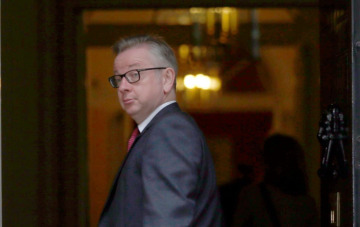 Justizminister Michael Gove in der Downing Street.