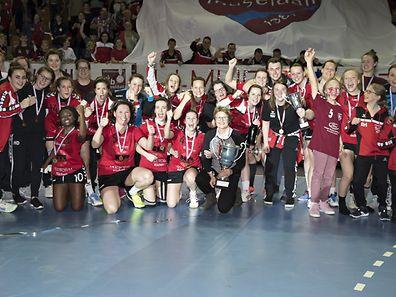 Museldall / Handball, Coupe de Luxembourg Frauen, Finale, Museldall - HB Kaerjeng / 05.03.2017 / Gymnase Coque, Luxemburg / Foto: Christian Kemp