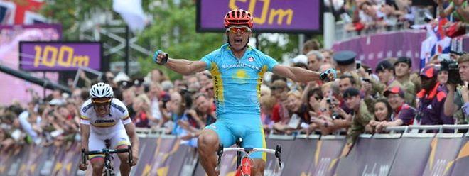 Alexandre Vinokourov a réglé le Colombien Rigoberto Uran au terme des 249 km du parcours londonien.