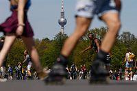 Residentes da capital alemã disfrutaram do bom tempo no passado fim de semana.
