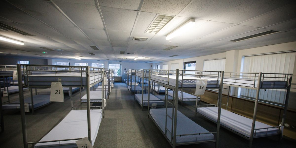 Das Nachtfoyer in Findel bietet Platz für 200 Obdachlose.