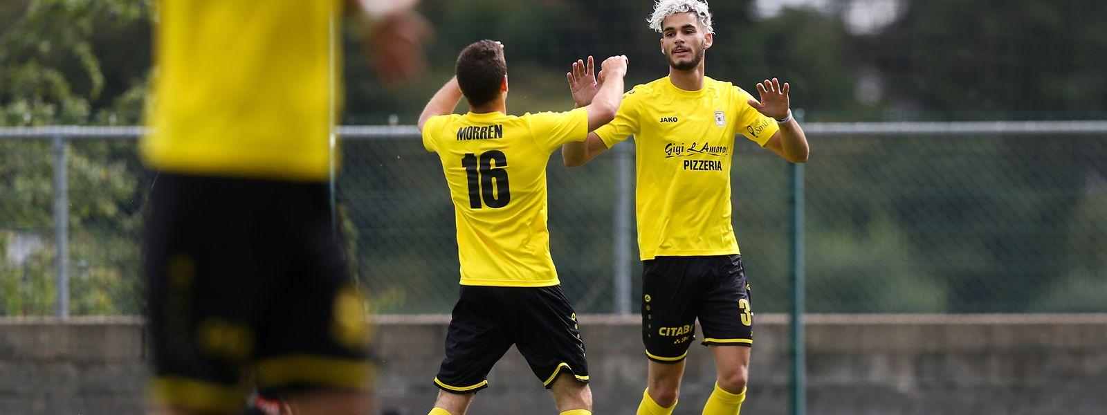 Die Düdelinger Charles Morren und Kevin van den Kerkhof (r.) haben allen Grund zur Freude.
