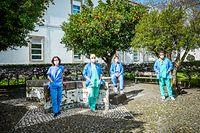 Reportagem fotográfica com equipas medicas e de enfermagem que vieram do Luxemburgo para o Hospital de Evora, em Portugal. Estas equipas vieram dar apoio aos profissionais de saúde desta unidade hospitalar no combate a COVID-19@Rodrigo Cabrita