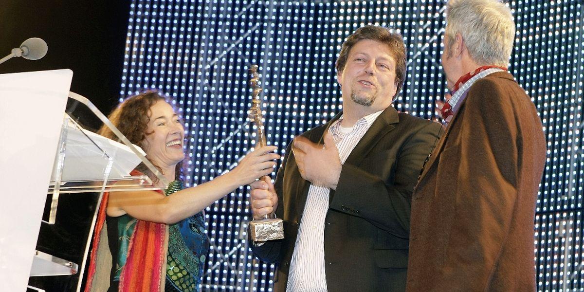 2012 konnte unter anderem Kameramann Carlo Thiel (Mitte) einen Preis - für die beste technische Leistung - entgegen nehmen.