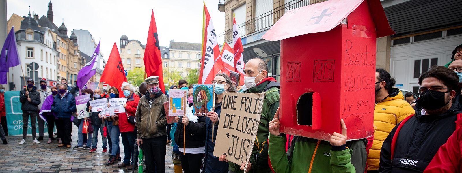 Déjà fin septembre, une manifestation sur le droit au logement avait été organisée à Esch-sur-Alzette. La pression monte.