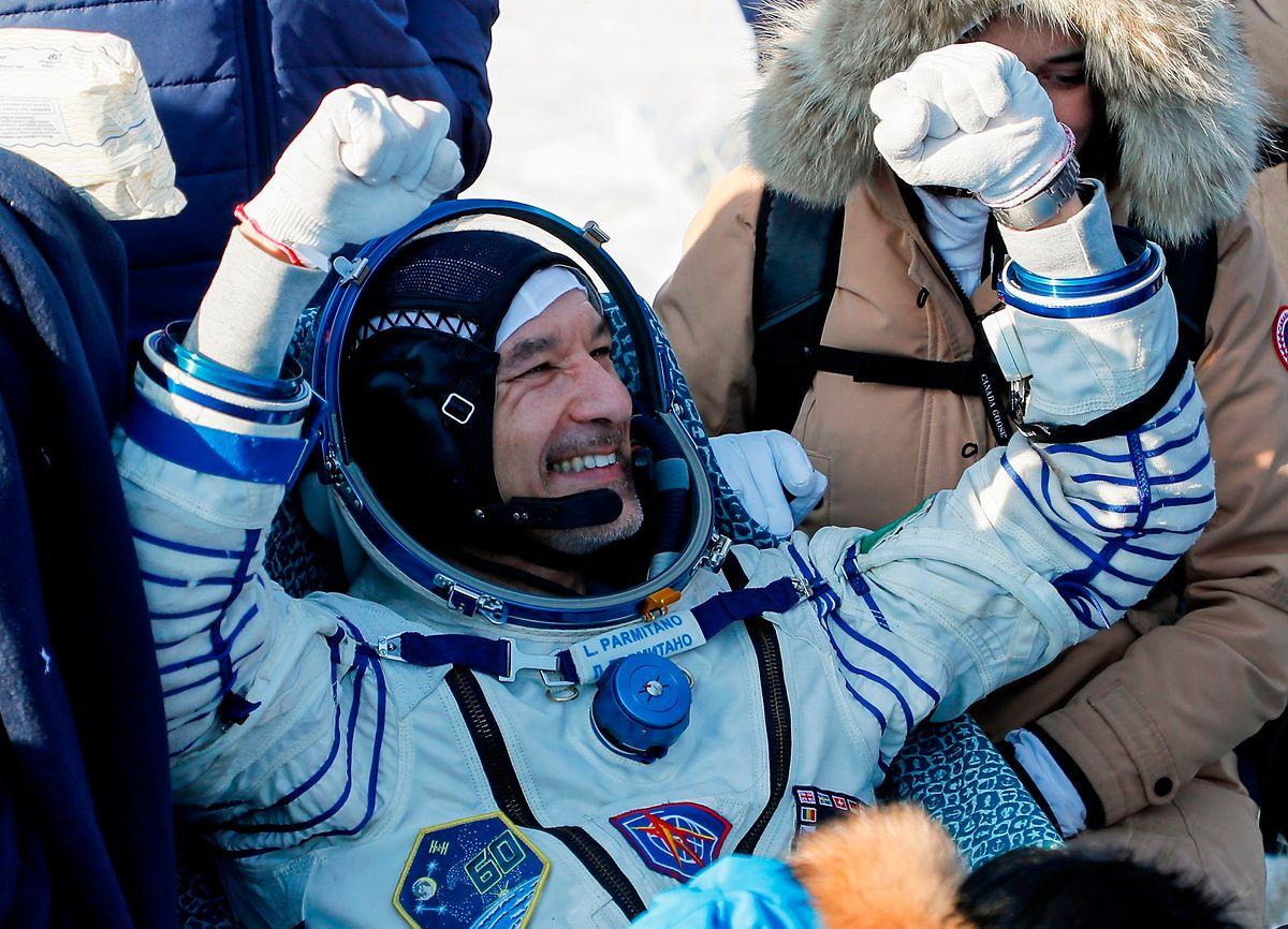 Le spationaute italien de 43 ans, Luca Parmitano achève une mission  standard de six mois dans l'espace