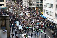 Lokales,Schülerstreik für besseren Klimaschutz.Foto: Gerry Huberty/Luxmburger Wort