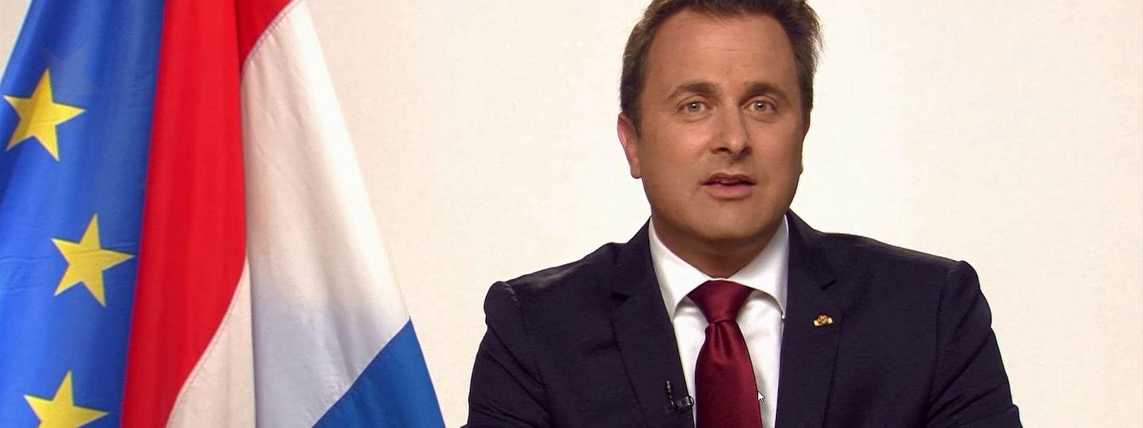 Xavier Bettel appelliert an das Zusammengehörigkeitsgefühl der Luxemburger Bürger.