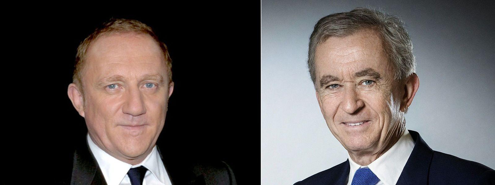 Francois-Henri Pinault, PDG du groupe de luxe Kering et Bernard Arnault, PDG de LVMH.