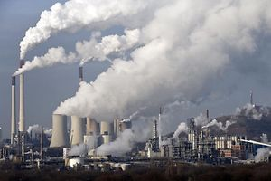 Steam and smoke is seen over the coal burning power plant in Gelsenkirchen, Germany, on Wednesday, Dec. 16, 2009. Coal