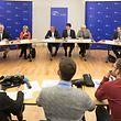 Wirtschaft,PK Bilan vun de 6 EU-Deputéierten.Georges Bach,Mady Delvaux,Frank Engel, Christoph Schroeder,Charles Goerens,Christophe Hansen,Tilly Metz, Foto: Gerry Huberty/Luxemburger Wort.