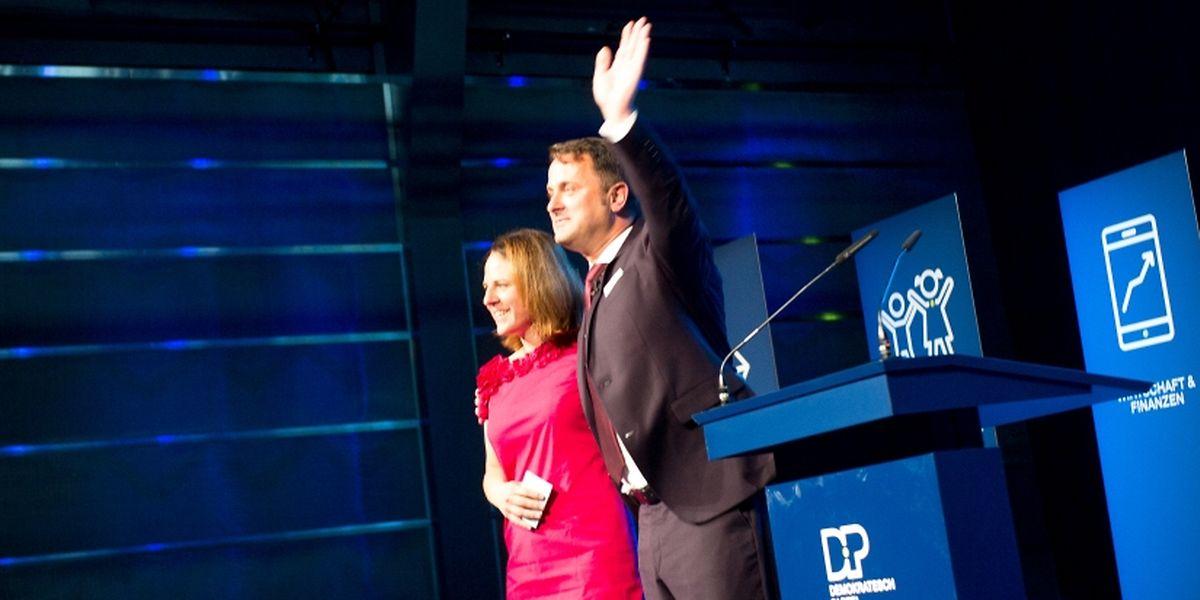 Parteipräsidentin Corinne Cahen und Premier Xavier Bettel stimmten die DP-Basis auf den  Wahlkampf ein.