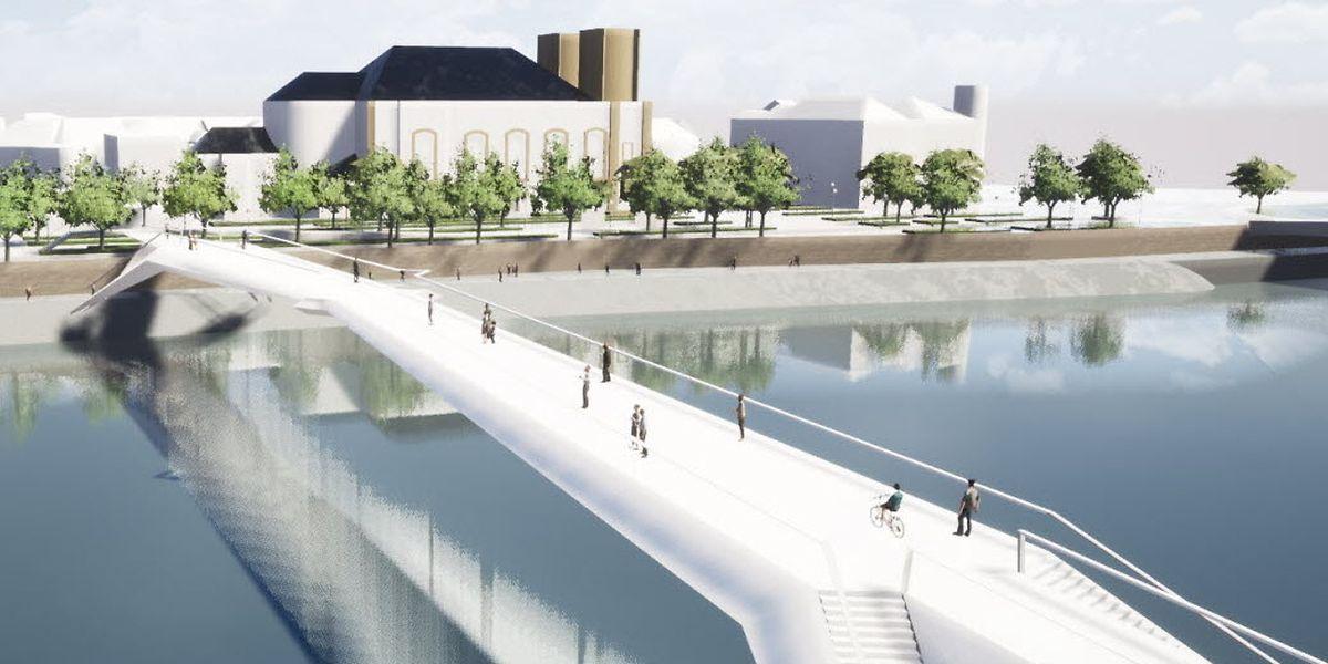 Prévue pour être inaugurée au printemps 2021, la nouvelle passerelle de Thionville pourrait rester inactive plus longtemps, en raison de «problèmes techniques» détectés lors de son installation.