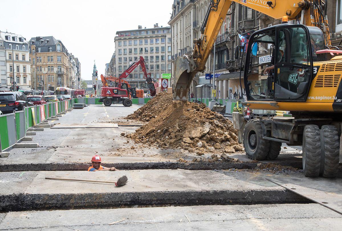 In der Avenue de la Liberté läuft unter anderem die Instandsetzung beziehungsweise Erneuerung der unterirdischen Infrastrukturen.
