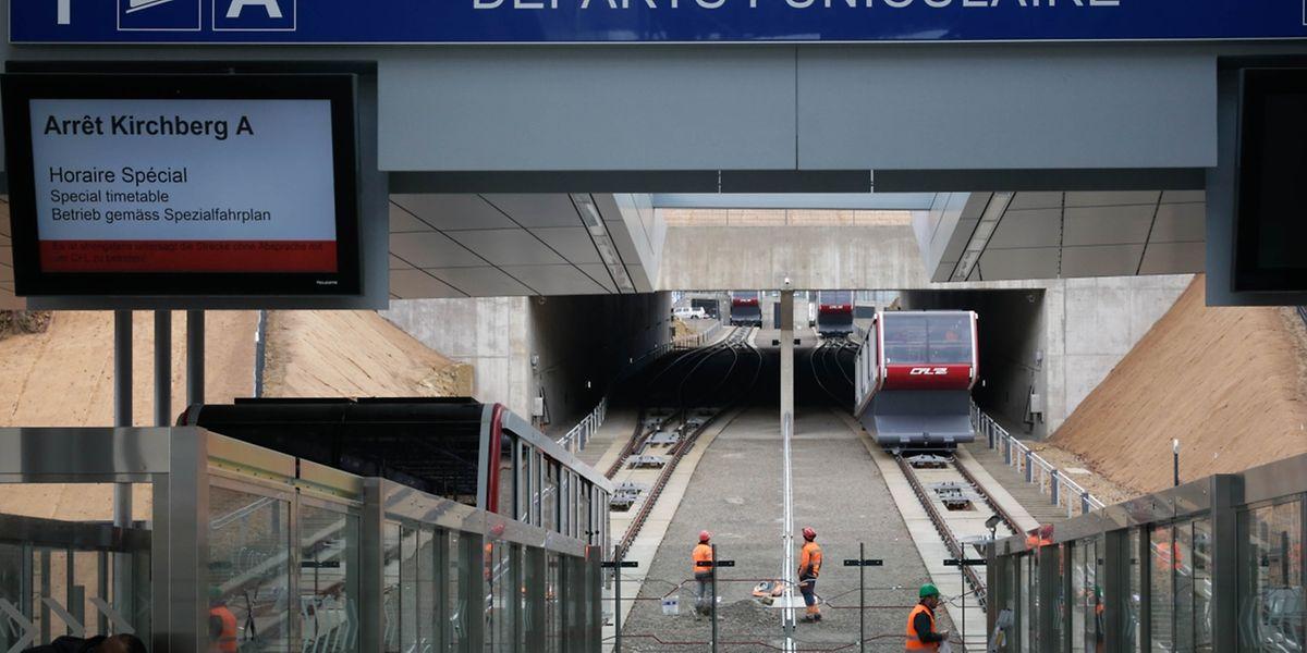 """In Pfaffenthal können Zugpassagiere künftig aussteigen und mit dem """"Funiculaire"""" nach Kirchberg fahren."""