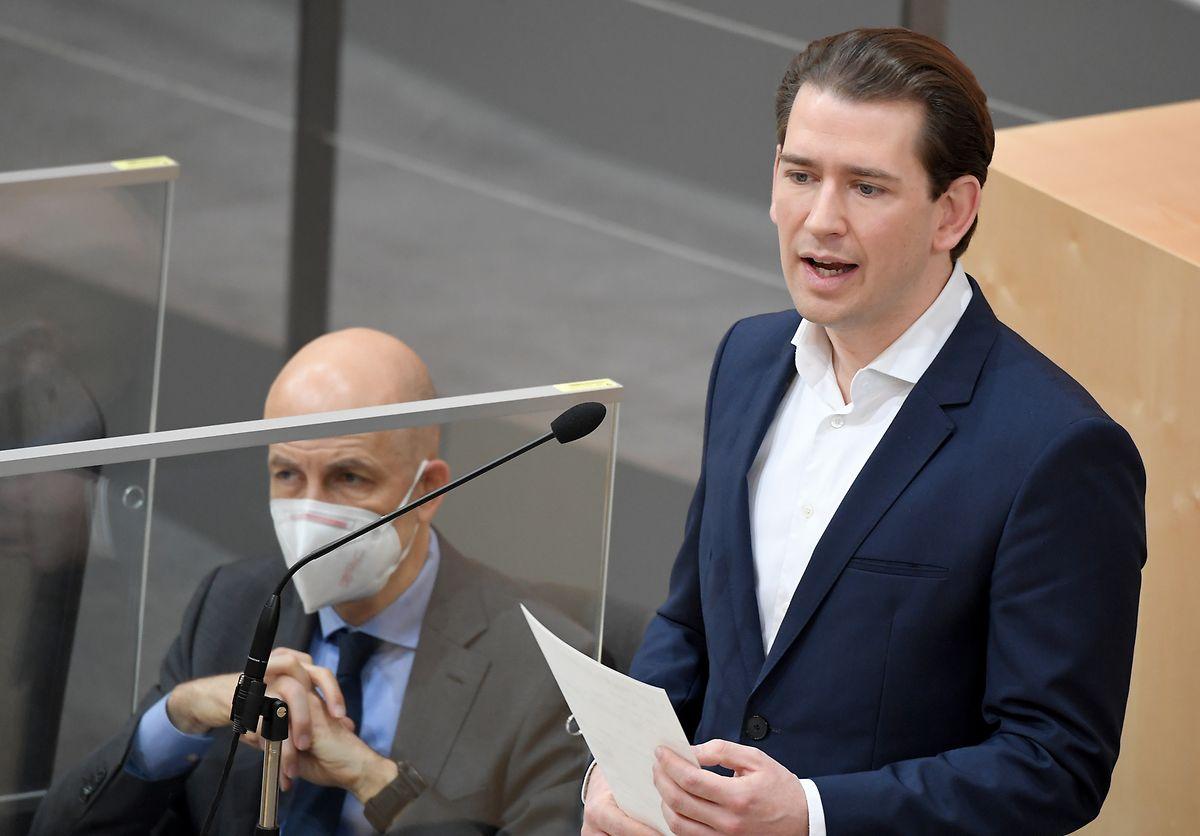 Sebastian Kurz (r), Bundeskanzler von Österreich kann sich auch Alleingänge vorstellen.