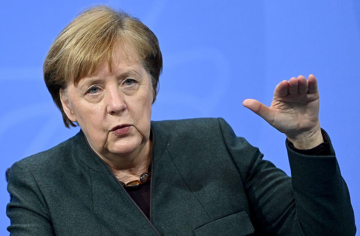 Angela Merkel: Die Corona-Zahlen in Deutschland sind weiterhin zu hoch.