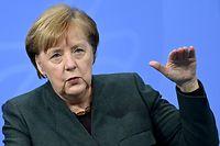 dpatopbilder - 19.01.2021, Berlin: Bundeskanzlerin Angela Merkel (CDU) spricht während der Pressekonferenz im Bundeskanzleramt zu den Ergebnissen der Bund-Länder-Beratungen zu den weiteren Corona-Maßnahmen. Der bis Ende Januar befristete Lockdown zur Eindämmung der Corona-Pandemie in Deutschland wird bis Mitte Februar verlängert. Foto: Filip Singer / Pool/epa/Pool/dpa +++ dpa-Bildfunk +++
