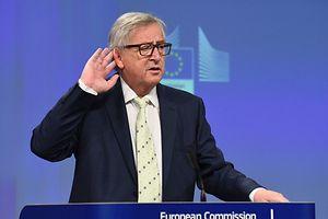 Jean-Claude Juncker bei der Pressekonferenz am 24. Juni: Das Brexit-Votum könnte auch seine Position schwächen.