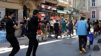 Die Polizei setzte Gummigeschosse gegen LGBTI-Aktivisten ein.