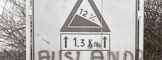 Luxemburg 1974: Schon damals scheint die Rechtschreibung eine Herausforderung für so manchen Urheber ausländerfeindlicher Parolen gewesen zu sein.  (Foto: Archiv)
