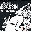 """This handout image obtained from French Satirical magazine Charlie Hebdo on January 4, 2015 shows the cover of the latest edition of the magazine bearing a headline which translates as """"A year after, the murdurer is still running"""" in an edition to mark the first anniversary of the terror attack which targetted the magazines offices in Paris on January 7, 2015. / AFP / CHARLIE HEBDO / - / RESTRICTED TO EDITORIAL USE - MANDATORY CREDIT """"AFP PHOTO /CHARLIE HEBDO"""" - NO MARKETING NO ADVERTISING CAMPAIGNS - DISTRIBUTED AS A SERVICE TO CLIENTS"""