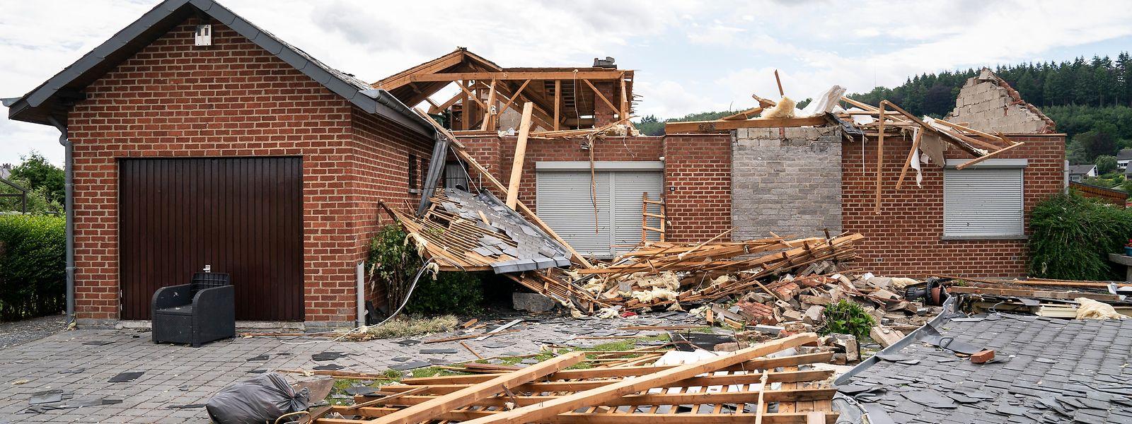 Im südbelgischen Beauraing wurden mehrere Häuser stark beschädigt.