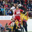 05 Fussball BGL Ligue 2014-15 F91 F91 Dudelingen gegen Fola Esch am 02.11.2014 Mehdi KIRCH (24 FOLA) vor Alexandre LAURIENTE (30 F91)
