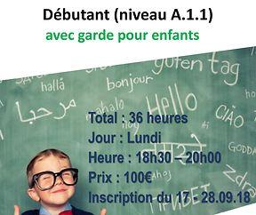 Cours de langue de luxembourgeois pour débutants avec garde pour enfants