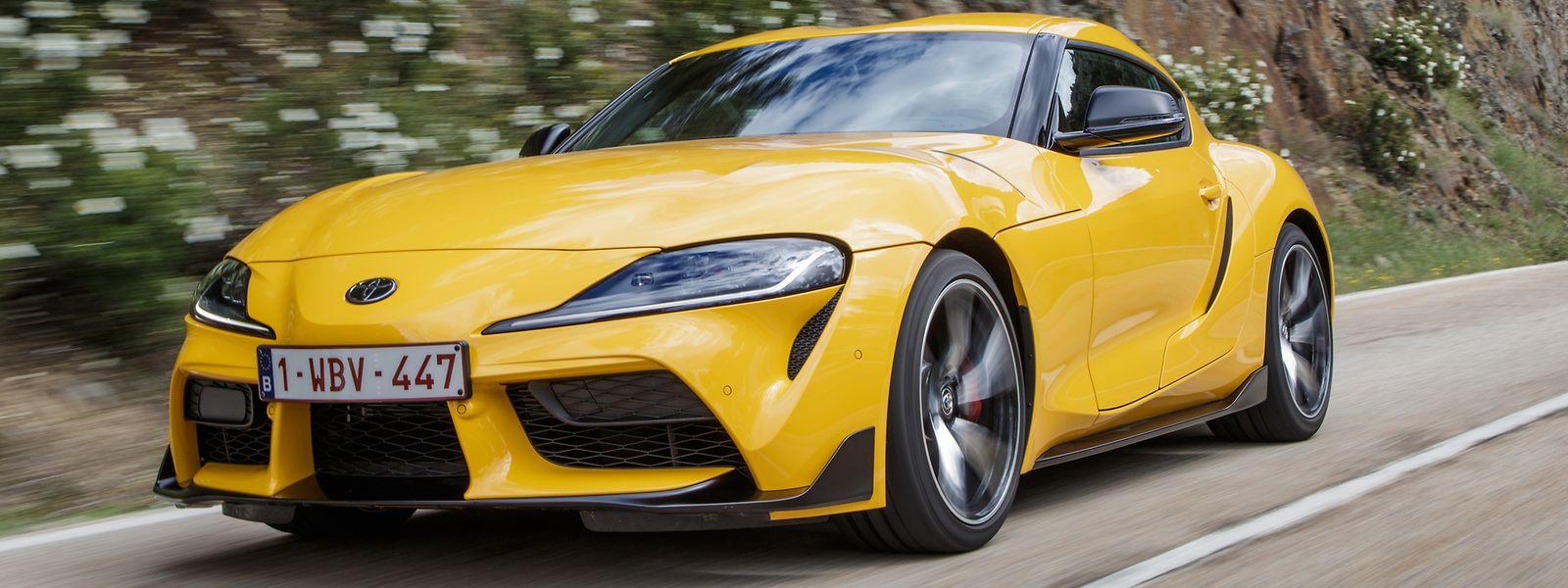 Der 250 kW (340 PS) starke Toyota GR Supra will die Herzen der Sportwagen-Fans erobern.